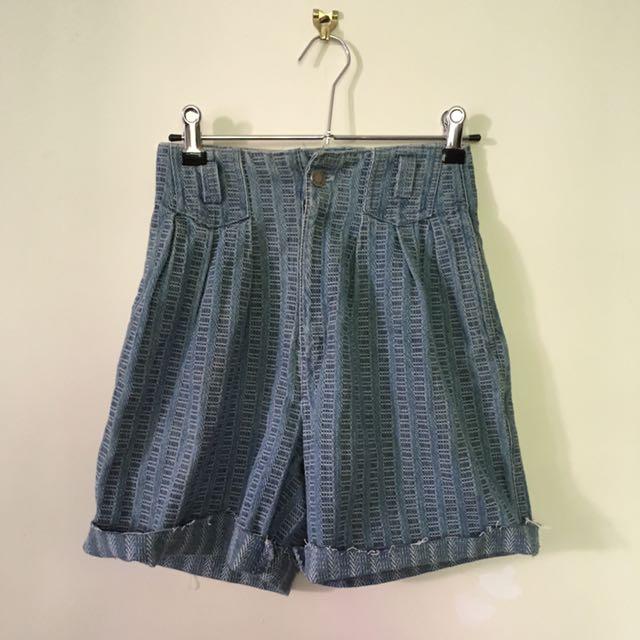 VINTAGE French Star Jeans Denim Shorts SZ 6