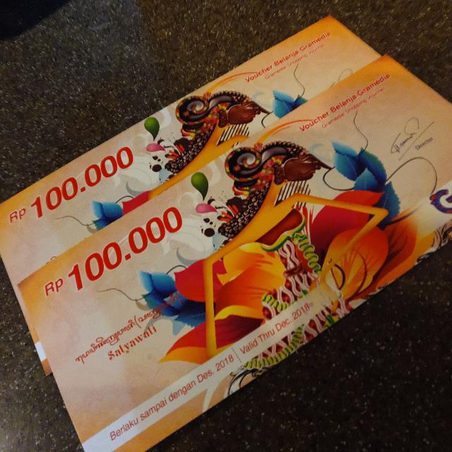 Voucher Gramedia Rp. 100.000