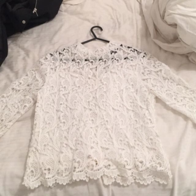white fancy long sleeved