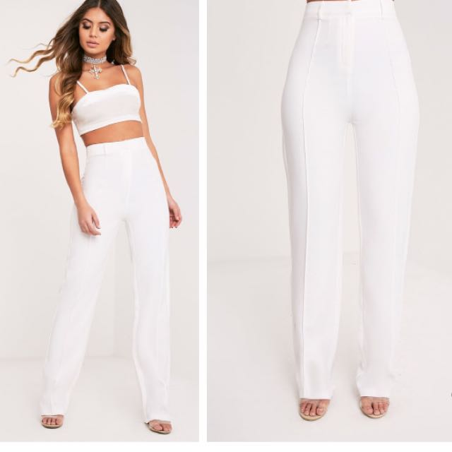 White Tailored Pants Size 8