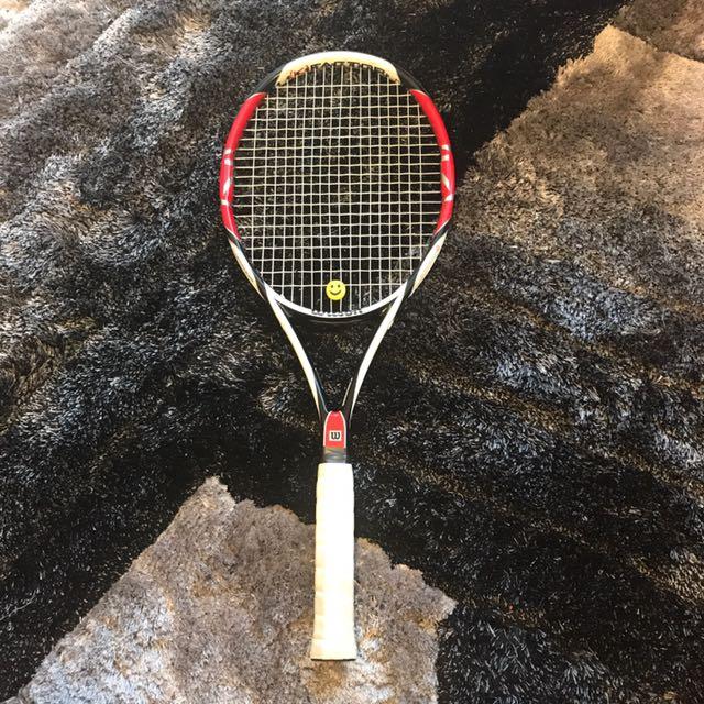 c6a834586 Wilson K Factor Six.One Team Tennis Racquet - Graphite, Sports ...