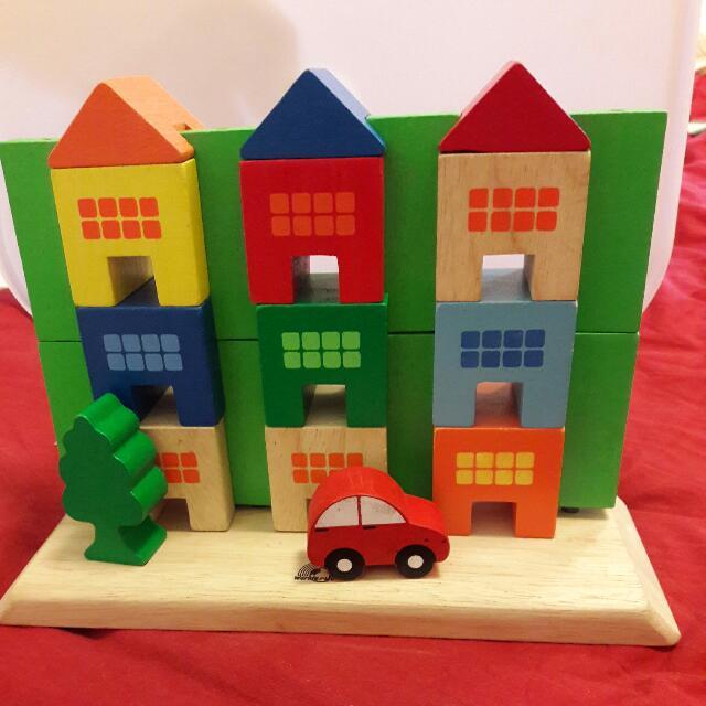 Wooden Blocks Apartment (Non Toxic)