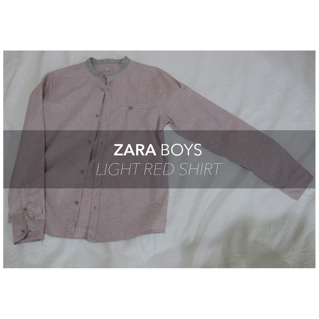 ZARA Boys Light red Shirt (Kemeja Merah Muda)