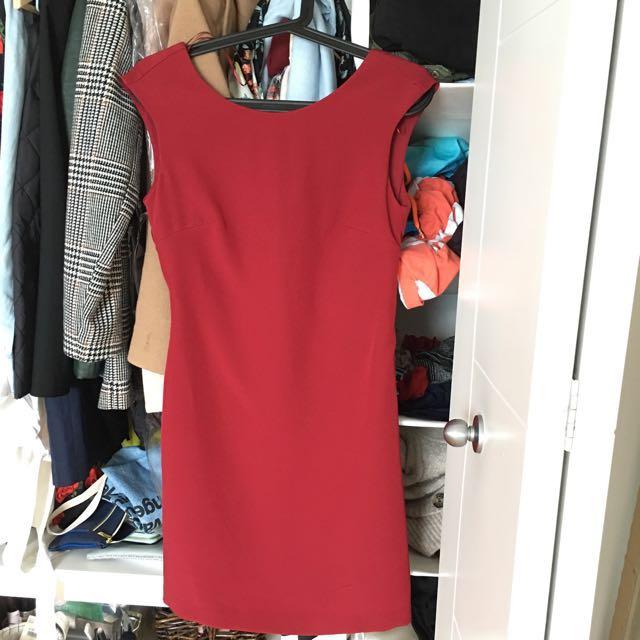 Zara Vintage Red Dress Size XS