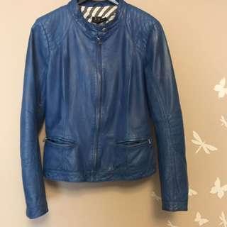 Vintage Blue Danier Leather Jacket