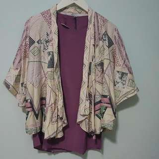 Purple Top And Outwear Tribal