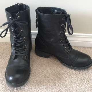 Black Zip Up Boots
