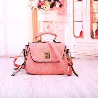 Tas Impor Batam Murah 21A848SN Pink