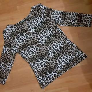 Mark N Spencer Leopard Shirt