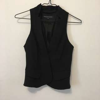 FRENCH CONNECTION Womens black Vest (size 0)