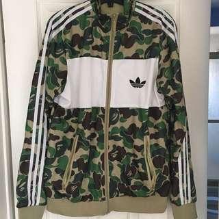 Bape X Adidas Regular Camo Firebird Jacket