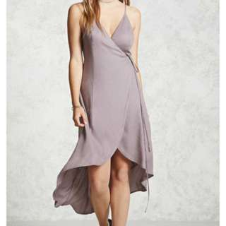 Lavender Contemporary Wrap Dress