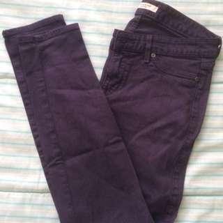 Rich & Skinny Purple Skinny Jeans Size 28
