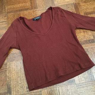 Topshop Cropped Long sleeve
