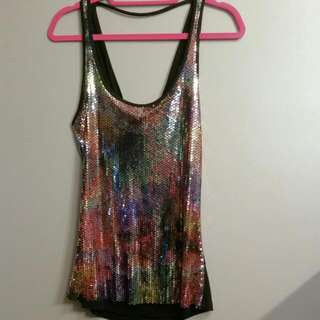 Guess Sequin tank New Small