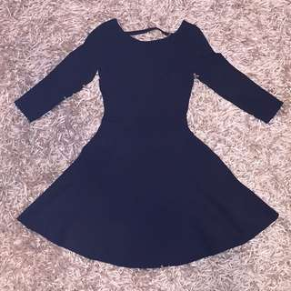 Guess Black Fit And Flare Dress