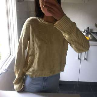 Light Yellow Knit Sweater