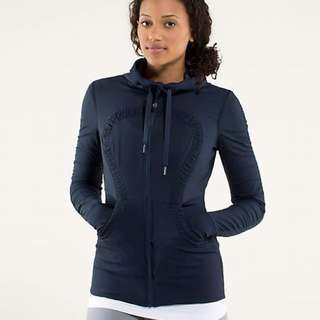 Lululemon Navy Studio Jacket Sweater 6 8