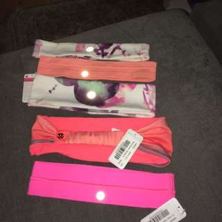 Lululemon Lot Of 5 New Headbands !!
