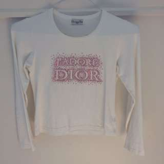 christian dior long sleeve j'adore dior tee