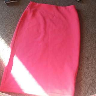 Supre xs bright pink pencil skirt
