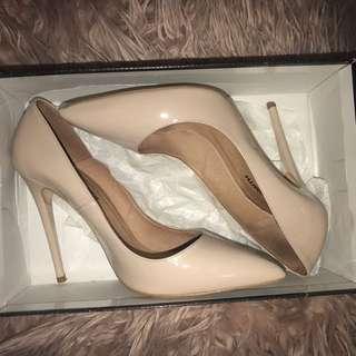 Windsor Smith Nude Patent Heels