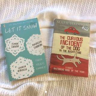 Let it Snow by John Green and The Curious Incident of the dog in the Night