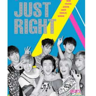 ON HAND SEALED ALBUM GOT7 - Just Right