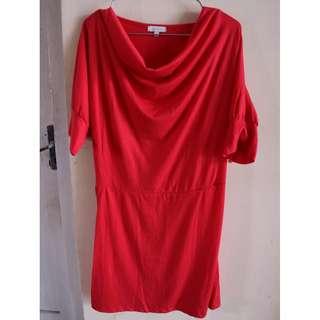 [Details] Atasan Kaos Merah Polos