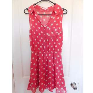 Size 10 Pink Polka Dot Dress