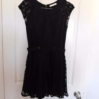 Black lace dress (size 10)