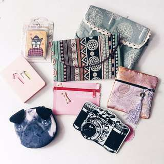 Pouch-bag-coin purse-mirror-notebook