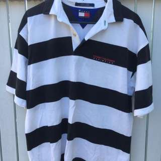 Tommy Hilfiger Athletics Polo Shirt 90's Vintage - Size Large