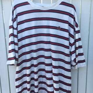 90's Vintage Tommy Hilfiger Striped T Shirt - Size XXL
