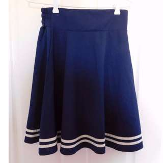 Blue stripe skirt Size 8/S