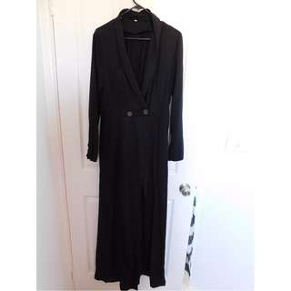 Black maxi coat / jacket