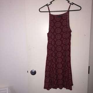 Brandy Melville Maroon Dress