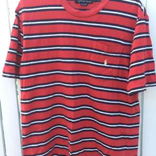 Polo Ralph Lauren Striped T Shirt - Size Large
