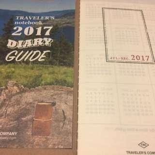 Midori Traveler's Notebook 2017 Weekly Planner (July - Dec)