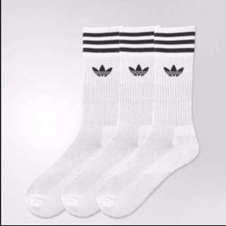 Adidas White Crew Socks