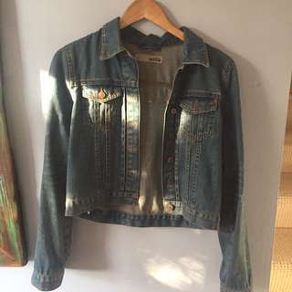 Top Shop Denim Jacket Size 14
