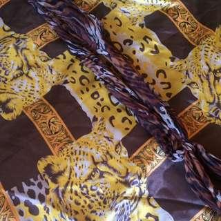 Vintage Leopard Print Scarves X 2!