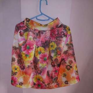 Floral Pleated Skirt 2