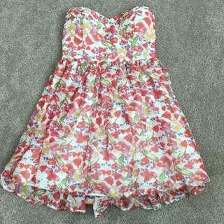 Dotti Floral Strapless Dress