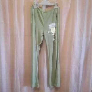 #15乳油木果色M碼SONSY彈性針織舒適喇叭長褲