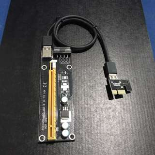 New Arrival ! PCIE Riser 1x To 16x USB
