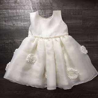 Baby White Embroidery Wedding Dress