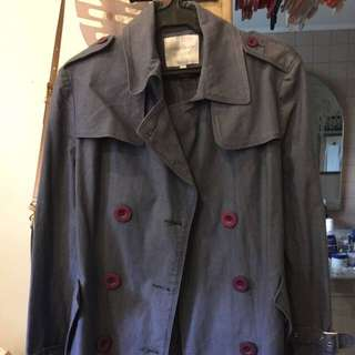 The Black Shop Short Trench Coat