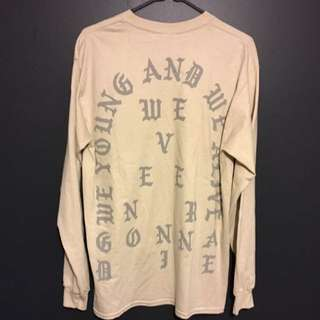 Kanye West Yeezy Pablo Nude Melbourne Long Sleeve Top