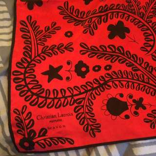 Christian Lacroix For Avon Red Satin Scarf